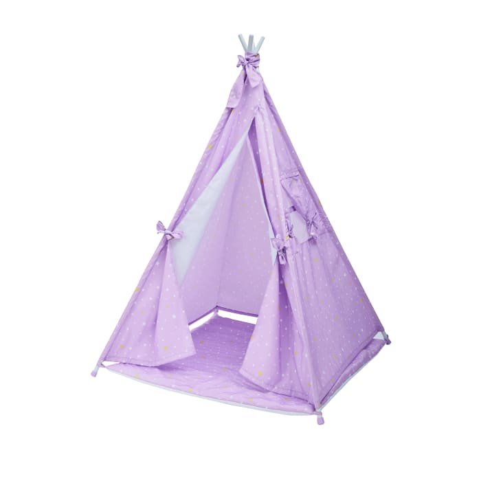 Child's Purple Twinkle Star Teepee Tent