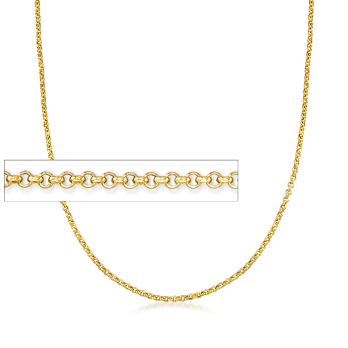 Italian 14kt Yellow Gold Rolo Chain Necklace