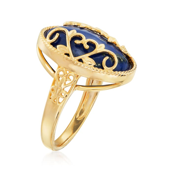Lapis Ring in 18kt Gold Over Sterling