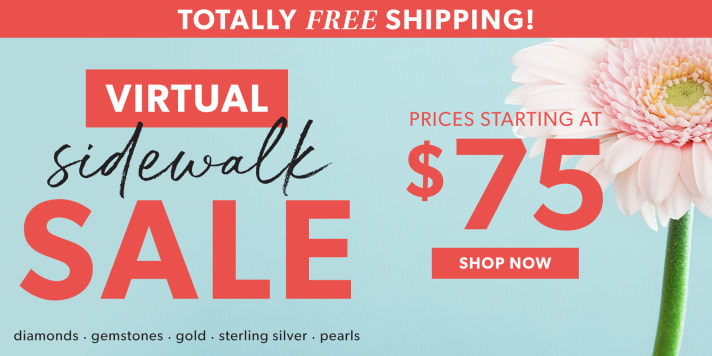 Totally Free Shipping! Virtual Sidewalk Sale. Prices Starting At $75. Shop Now. Image Featuring Pink Flower With Blue Sky Background