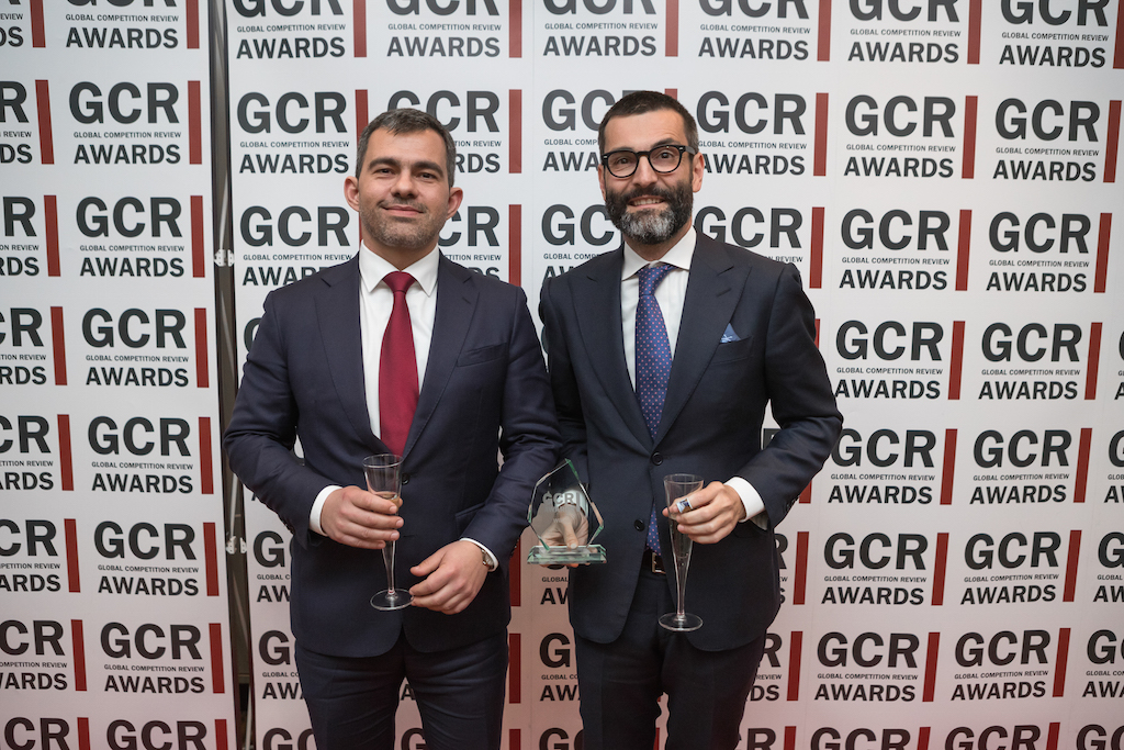 Qualcomm/NXP wins Merger Control Matter of the Year award - Europe. L-R: Miguel Rato and Alvaro Ramos.