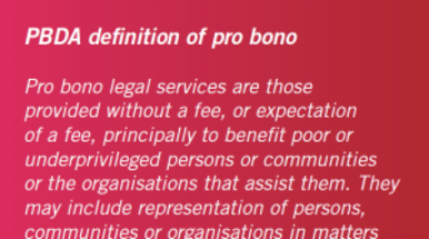 Pro bono survey 2014: Powerful reach