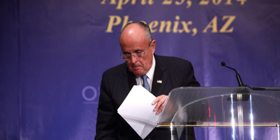 Giuliani's government ties spark privilege wrangle