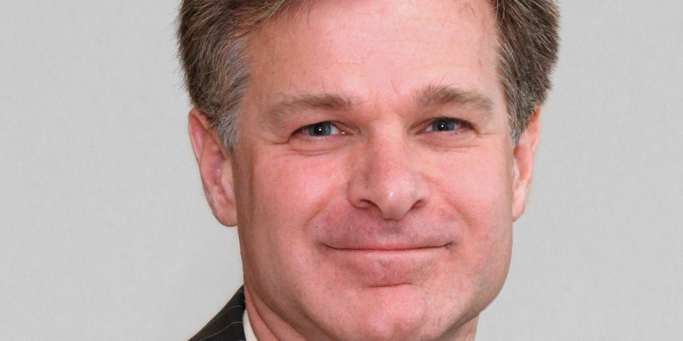 As Comey testimony looms, DOJ touts FBI pick Chris Wray