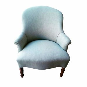 Professionally Reupholstered Farmhouse Armchair in Warwick Fabric
