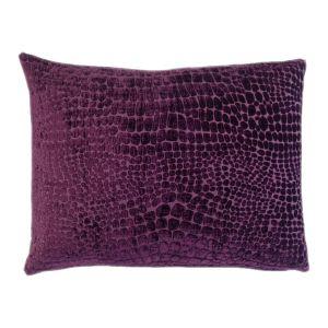 Purple Rectangle Cushion - Handmade With Animal Skin Pattern