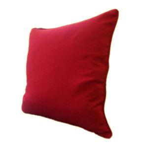 Charming and Intense Red Piping Cushion Handmade in Clapham Common-1