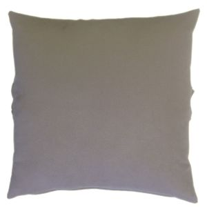 Graceful Ruffle Strap on the Middle of this Soft and Puffy Grey Suede Cushion-1
