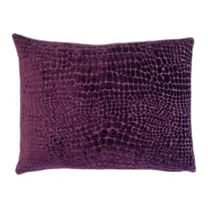 Purple Rectangle Cushion - Handmade With Animal Skin Pattern
