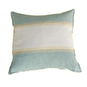 Sea Cushion - Natural Cotton Linen Fabric. Handcrafted in UK. 45 x 45cm