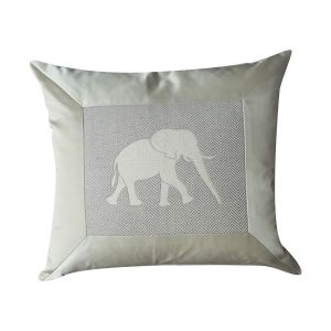 Luxury Elephant Silk Cushion - London Cushion Company Shop