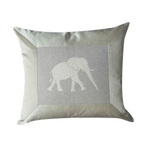 Luxury Elephant Silk Cushion - London Cushion Company Shop