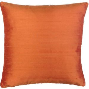 Orange Silk Cushion Cover - London Cushion Company Shop-1