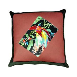 Faux Leather Bird Cushion 50 x 50cm - London Cushion Company