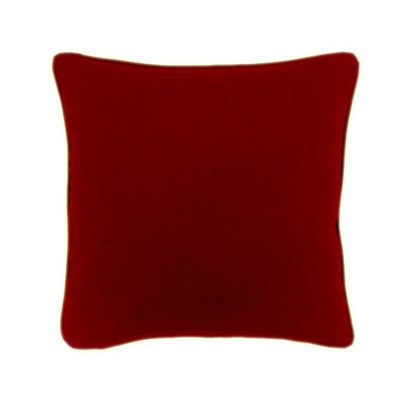 Charming and Intense Red Piping Cushion Handmade in Clapham Common