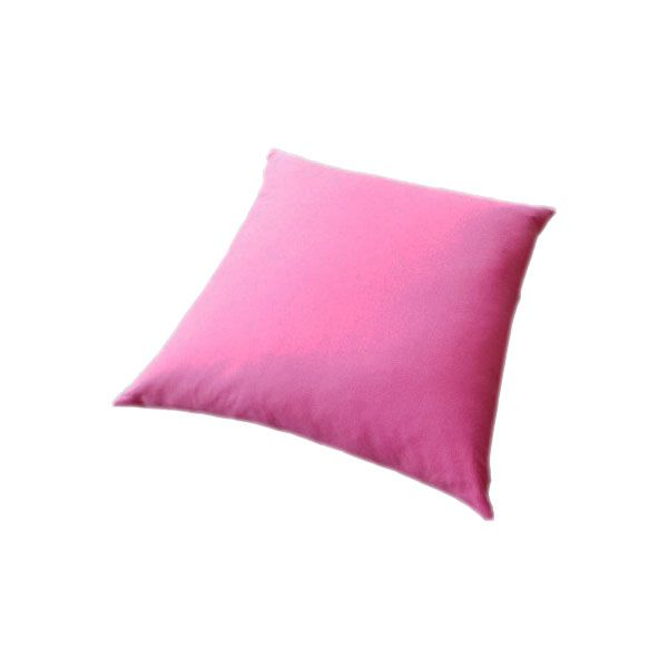 Floor Cushion With a Knife Edge in Bright Pink Cotton. 85 x 85cm..