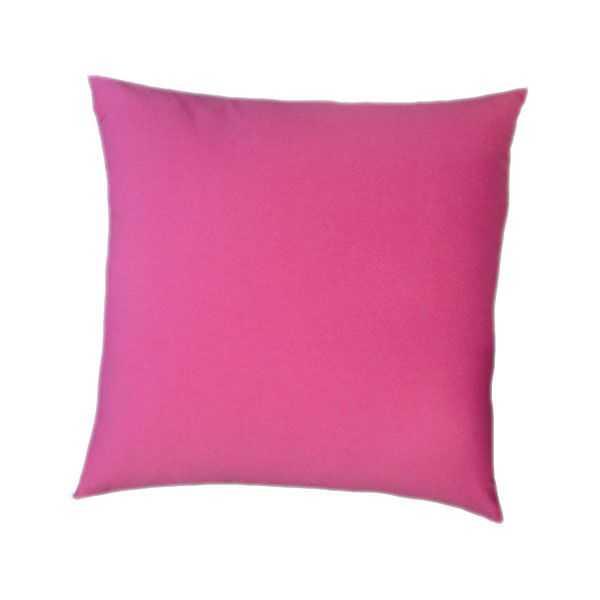 Floor Cushion With a Knife Edge in Bright Pink Cotton. 85 x 85cm.