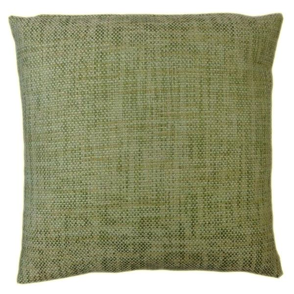 Rustic Cushion - a Classic Green Textured Fabric Match With a Soft Beige