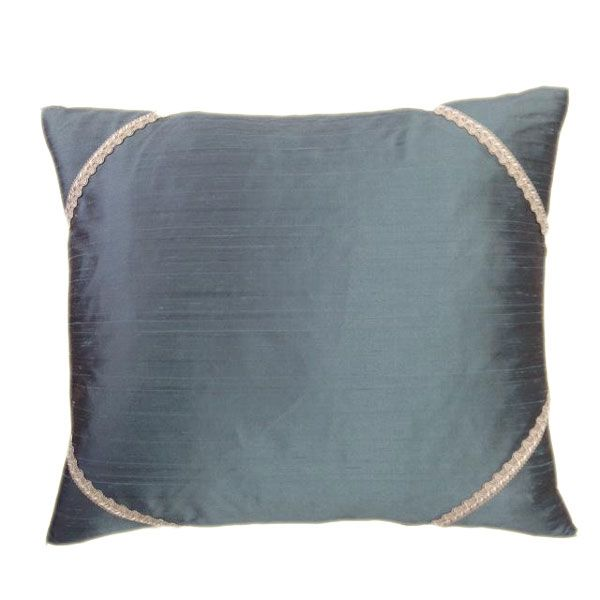 Turquoise Silk Cushion - Perfect Accompaniment For Your Soft Furnishings