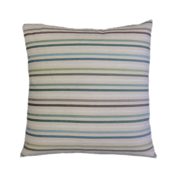 Zig Zag Handcrafted Cushion - Deep Sky Blue Colour at the Back-1