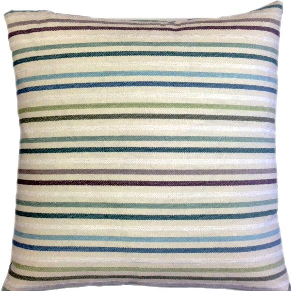 Zig Zag Handcrafted Cushion - Deep Sky Blue Colour at the Back