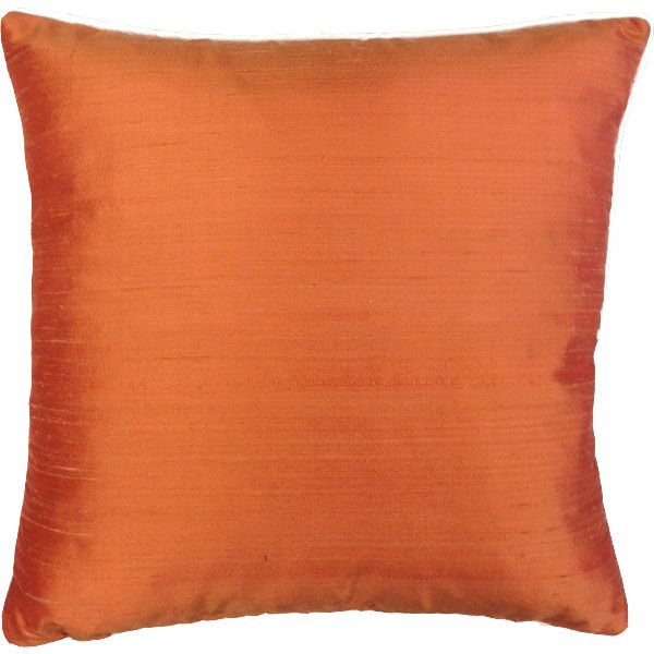 Orange Silk Cushion Cover - London Cushion Company Shop-1