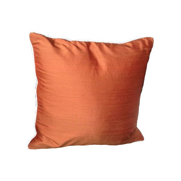 Orange Silk Cushion Cover - London Cushion Company Shop