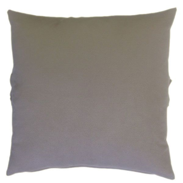Graceful Ruffle Strap on the Middleof this Soft and Puffy Grey Suede Cushion-1