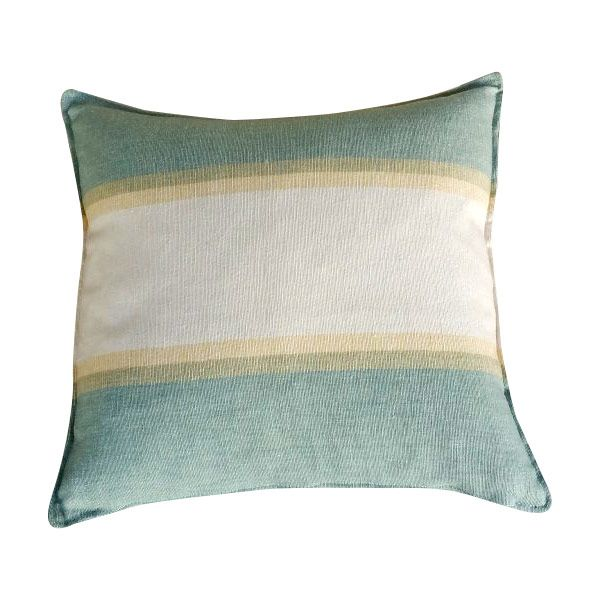 Sea Cushion - Natural Cotton Linen Fabric. Handcrafted in UK. 45 x 45cm-1