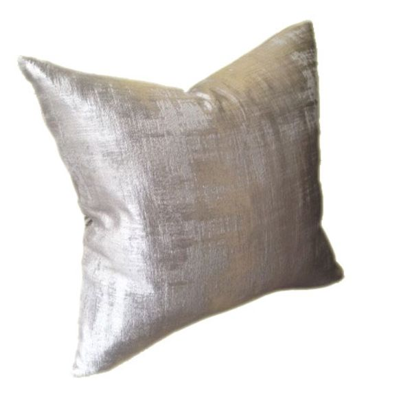 Grey Satin Cushion Cover - Add Feather or Polyester Inner Pad