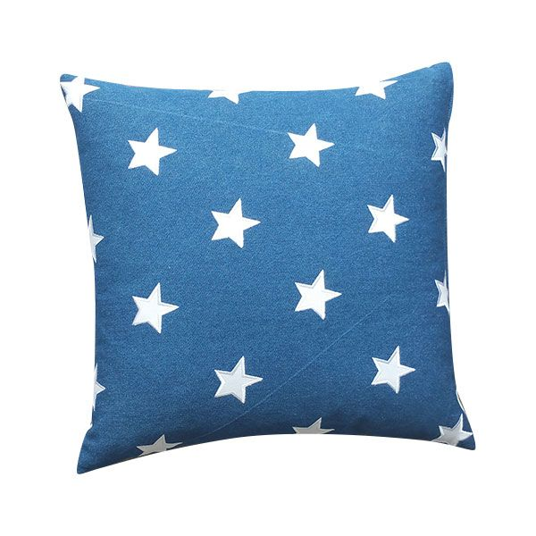 Star Cushion - Dark Blue Pillow Made to Order by London Cushion Company