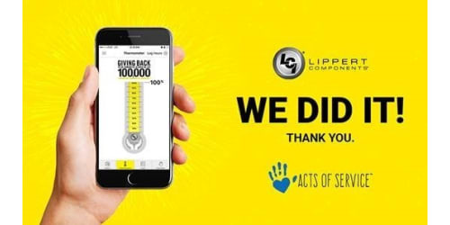 Lippert Components Reaches 100000 Hours of Community Service