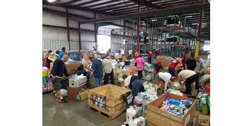 Community Collaboration Results in 95000 Pounds of Hurricane Relief Donations