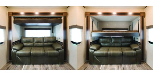 Heartlands Elkridge the First Towable to Feature Lippert Components Euroloft Bed Lift System