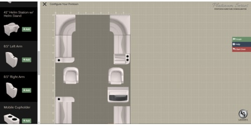 Lippert Components Unveils Digital Platinum Pontoon Furniture Configurator