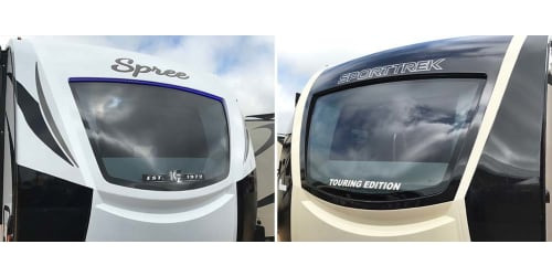 2018 Kz Spree and Sporttrek Touring Models Now Feature Windshields Supplied by Lcis Duncan Systems