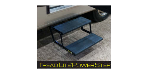 Tread Lite Power Step by Lippert Components Features Sleek and Durable Lightweight Design for RVs
