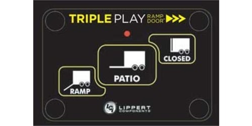 Lippert Components Will Debut All New Triple Play Ramp Door on Forest River Work and Play and Coachmen Adrenaline Toy Haulers