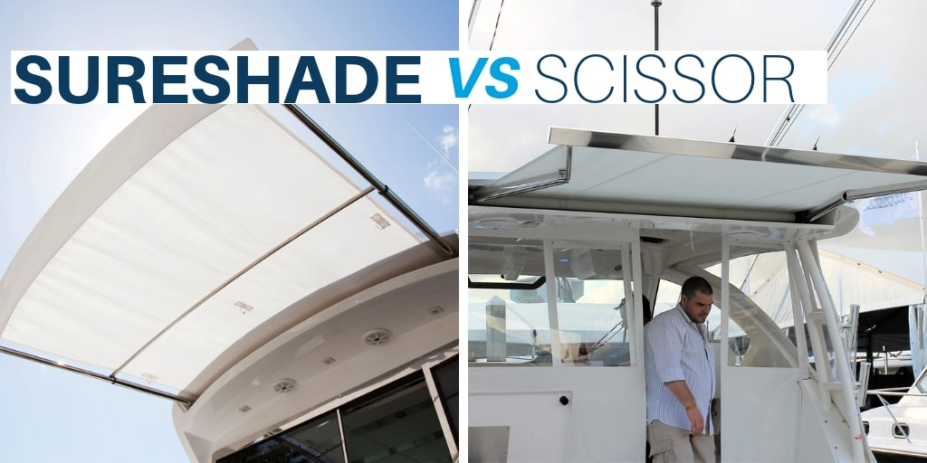 SureShade vs Scissor: Market Proven Boat Shade System with Clear Design Advantages