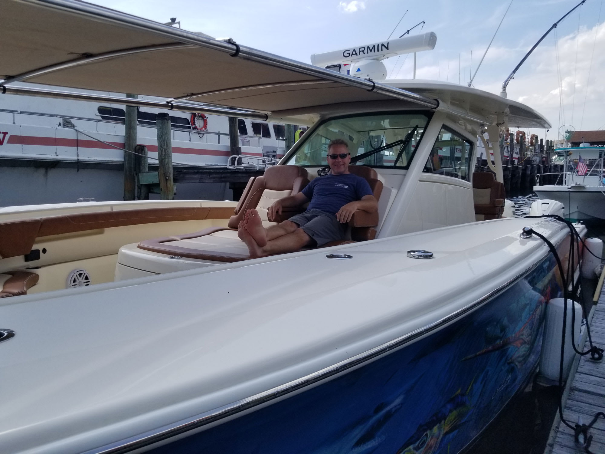 Scout 380 LXF with 12 foot M3 Bow Shade