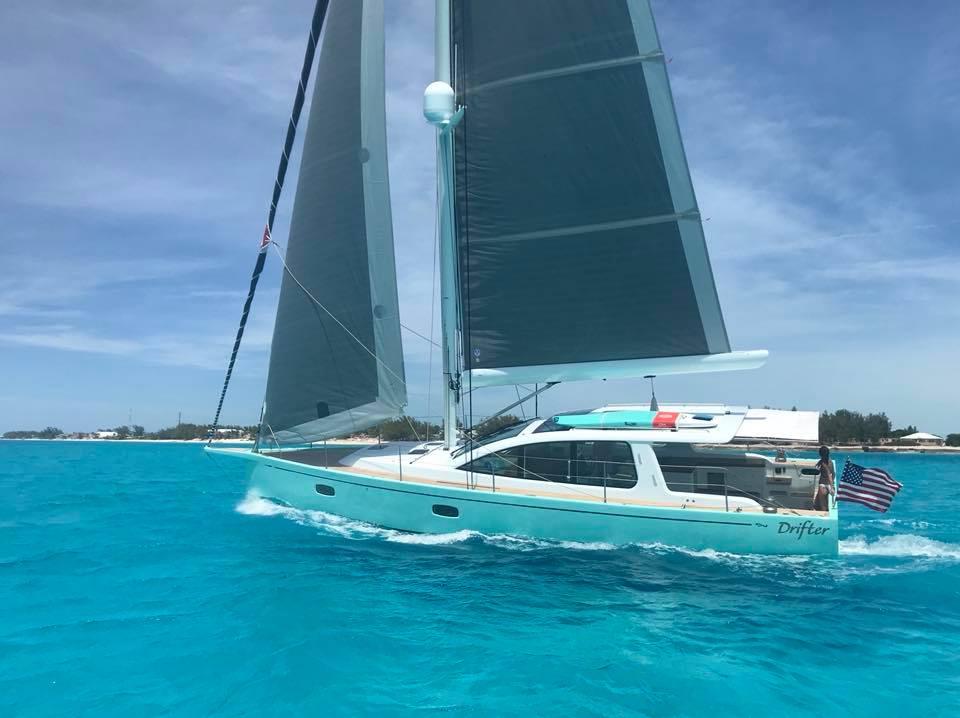 Surfari 48 Sailing Yacht Equipped with SureShade