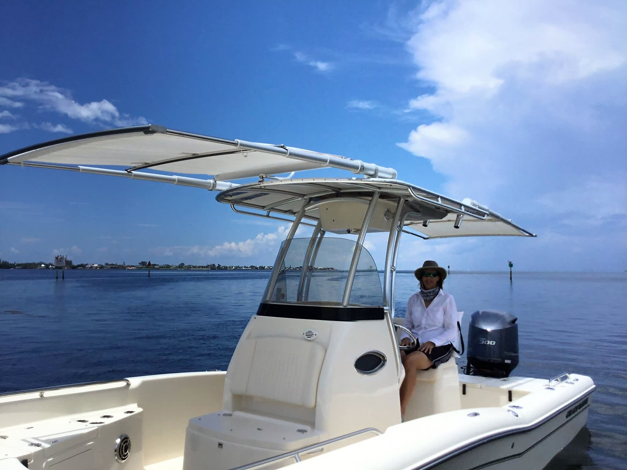 Grady-White 251 Coastal Explorer with Two Boat Shades