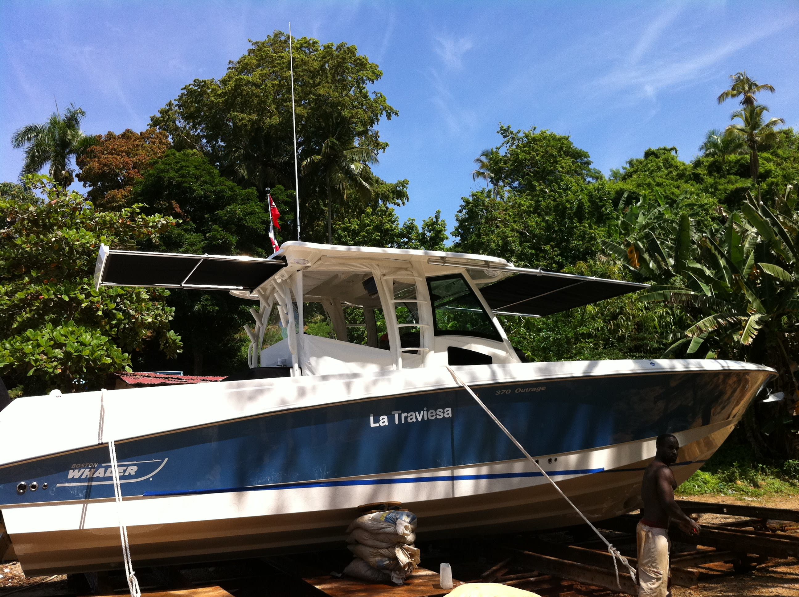 Forward Bow Shade on Boston Whaler 370 Outrage