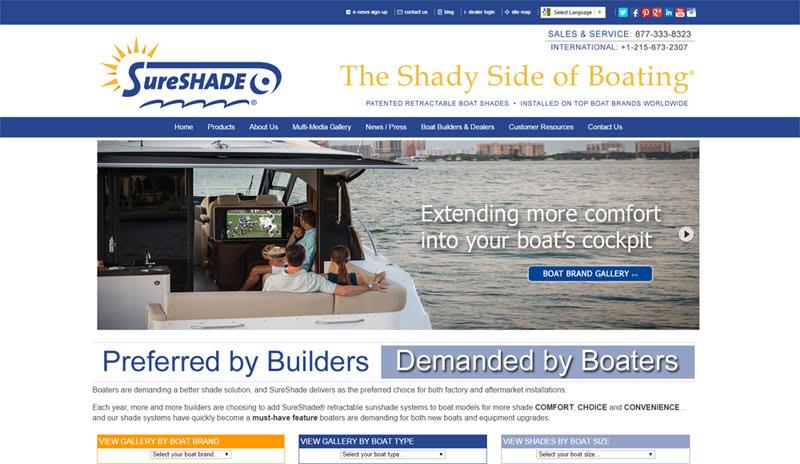 sureshade web design