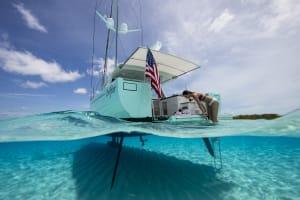 SureShade ATF on Surfari 48 Sailboat