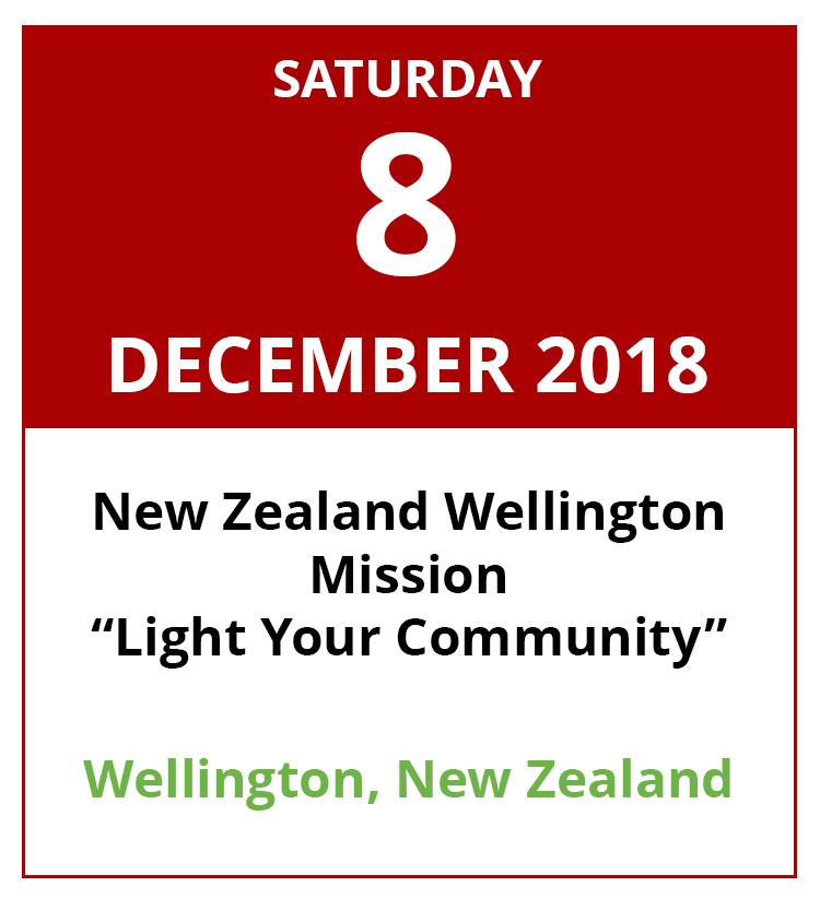 8 December 2018. New Zealand Wellington Mission 'Light Your Community'