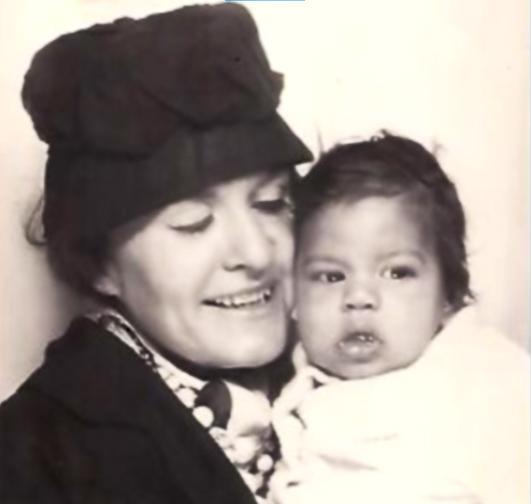 Mum and baby Raymond