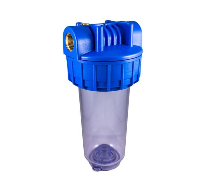 Porte filtre standard 7 pouces transparent avec insert laiton filetage 3/4 pouces - 20x27