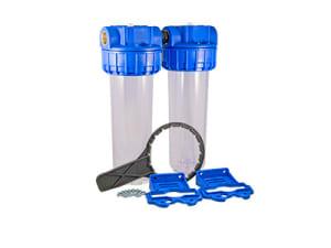 Filtres à eau double double Téthys complet vide