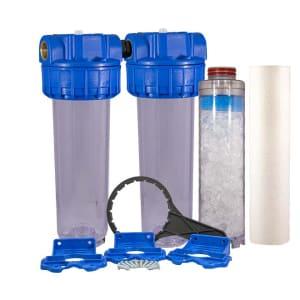 Filtre à eau double anti calcaire Téthys 10